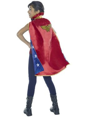 Wonder Woman Deluxe Cape Girl's Costume