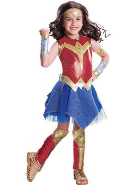 Wonder Woman Movie - Wonder Woman Costume Deluxe For Children