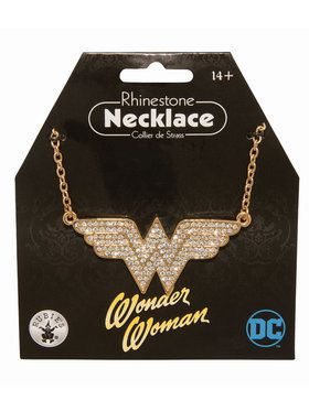 Wonder Woman Rhinestone Necklace