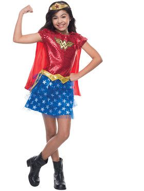 Wonder Woman Sequin Girl's Costume