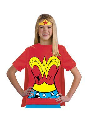 Wonder Woman Shirt Costume for Kids
