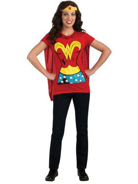 Wonder Woman T-Shirt Costume Kit For Adults