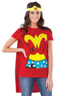 Wonder Woman T-Shirt Costume Kit Adult