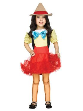 Wooden Girl Doll Toddler Costume