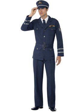 WW2 Air Force Captain Men's Costume