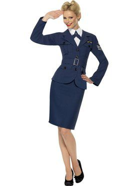WW2 Air Force Female Adult Captain Costume
