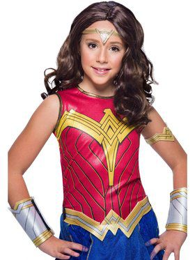 WW2 Movie Wonder Woman Child Wig