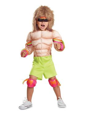 Toddler WWE: Ultimate Warrior Muscle Costume