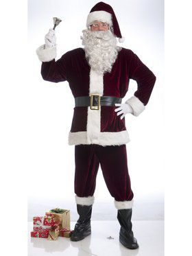 X-Large Crimson Velvet Adult Santa Suit