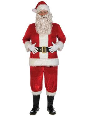 X-Large Red Deluxe Adult Velvet Santa Suit