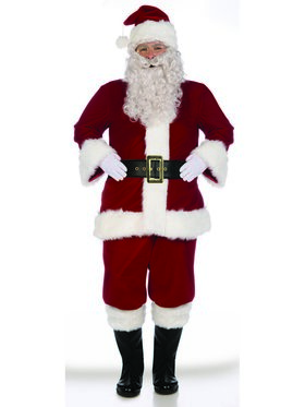 X-Large Super Deluxe Adult Velvet Santa Suit