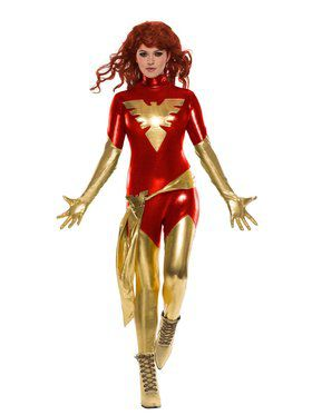 Adult X-Men Red Dark Phoenix Costume