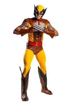 Men's New Wolverine X-Men Costume