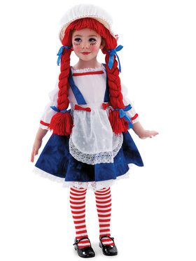 Yarn Babies Rag Doll Girl Costume For Toddlers