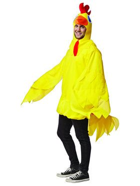 Yellow Chicken Costume for Adults
