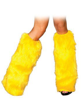 Yellow Legwarmers Adult