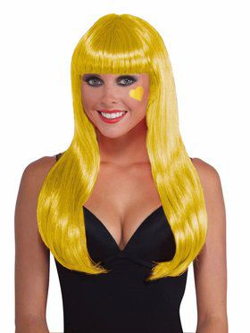 Long Yellow Wig