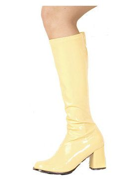 Yellow Patent Gogo Boot Adult