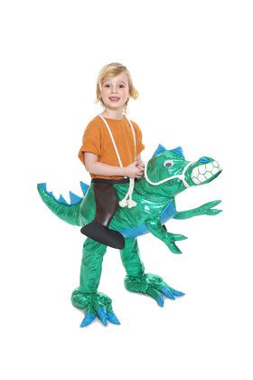 Youth Dinosaur Rider Play Costume