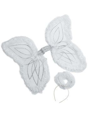 Youth Marabou Angel Wings and Halo Set