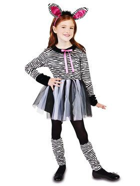 Zebra Girl Costume For Children