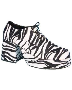 Zebra Mens Platform Shoes