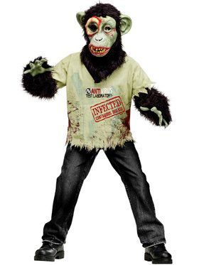 Zombie Chimp Boy's Costume