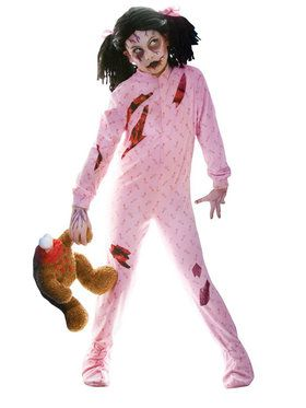 Zombie Girl Costume For Children