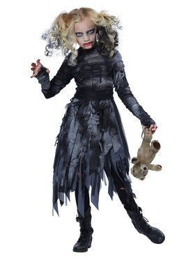 Zombie Girl Girls Costume
