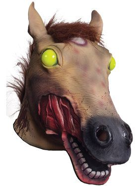 Zombie Horse Mask with Light Up Eyes