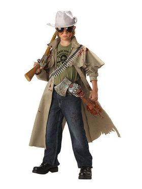 Zombie Hunter Costume For Boys