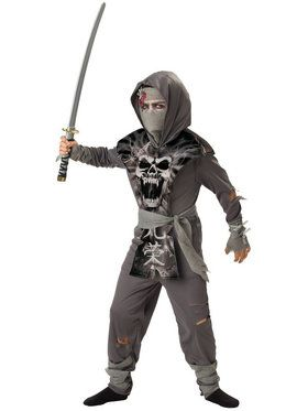 Zombie Ninja Costume For Boys