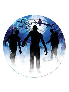"Zombie Party 7"" Plates (8)"