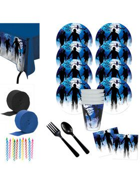 Zombie Party Deluxe Tableware Kit (Serves 8)