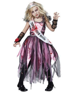 Zombie Prom Queen Girl's Costume