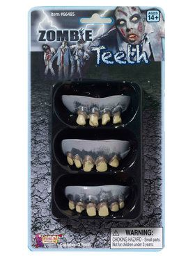 Zombie Teeth 3 Pack Adult