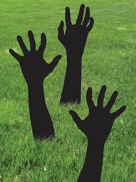 Zombie Shadow Hands Decoration