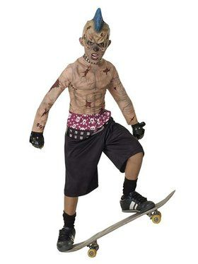 Zombie Skate Punk Childrens Costume